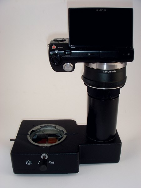 [ MBS-10 stereo microscope photo adapter with Sony Nex camera adaptation ]